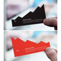 Печат на визитки с рязане по контур - 4+4 цвята (пълноцветни, двустранни)