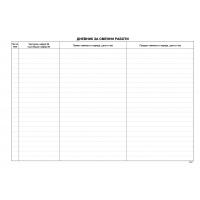 Е016780 Дневник за сменни работи