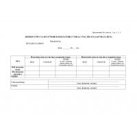 Е016090 Формуляр дневен отчет за получени и изплатени суми за участие в хазартната игра в казино приложение 6 към чл 3, ал 1